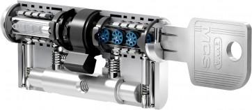 Evva MCS cilindro doppio magnetico chiave con assicurazione CARE +