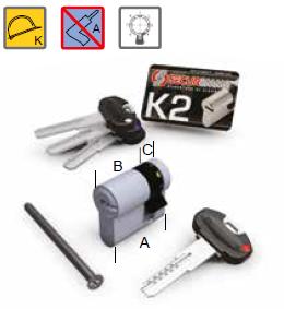 mezzo cilindro securemme k2