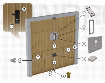2291kzbkit securemme serrature per garage serrature e - Serratura porta basculante garage ...