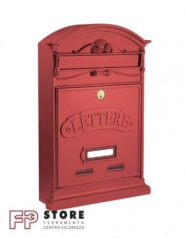 Lettere Cassetta Postale Alubox-Rosso