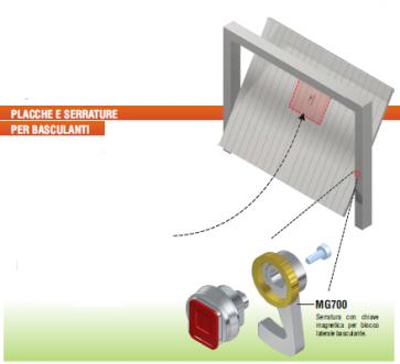 MG700-CO Blocco Magnetico Per Basculanti Disec