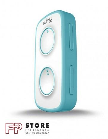 Telecomando cancello 4 canali Why Evo Mini Azzurro