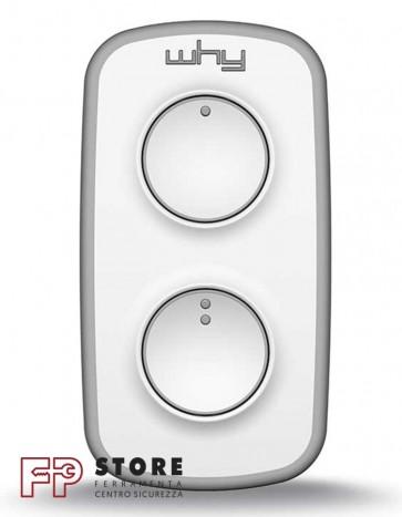 Telecomando cancello 2 tasti Why Lite Mini Bianco