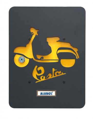Motoretta Box+Cover Alubox Mia