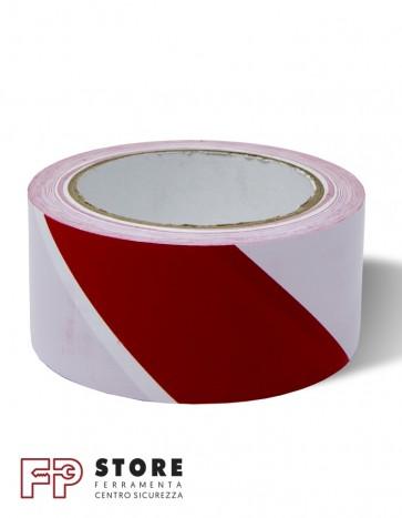 Adesivo segnaletico bianco rosso 50 mm