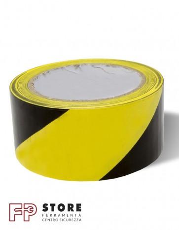 Adesivo segnaletico giallo nero 50 mm