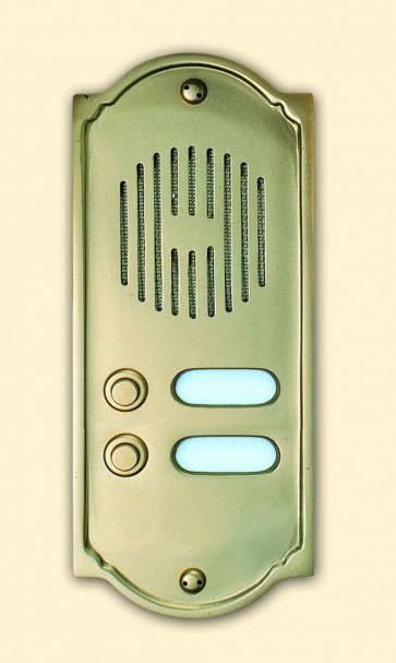 Pulsantiera in ottone lucido PLS Alubox