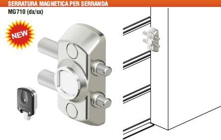 Mg710 blocco magnetico per serrande disec serrature per for Costo per costruire un garage per 2 persone