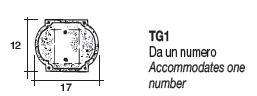 TG1 Targa Per Numero Civico Alubox