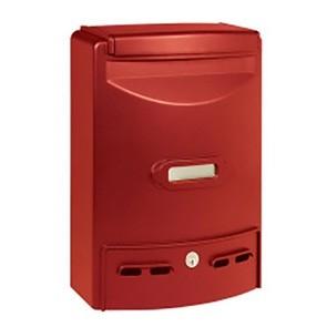 Europa Maxi Cassetta Postale Alubox-Rosso