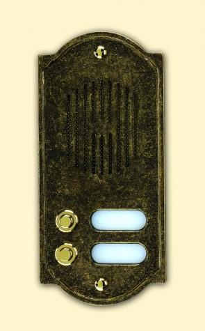 Pulsantiera in ottone brunito PLS Alubox
