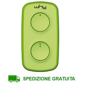 Telecomando cancello 2 tasti Why Lite Mini Verde