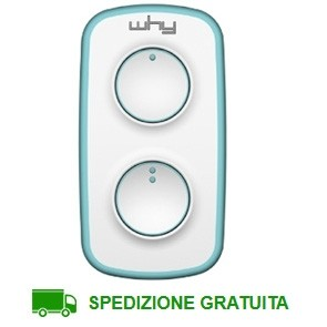 Telecomando cancello 2 tasti Why Lite Mini Azzurro
